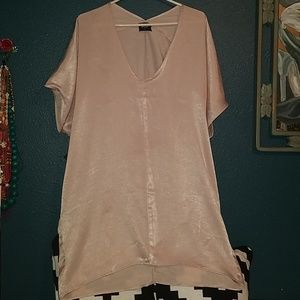 Nasty Gal dress. Pearl pink size large